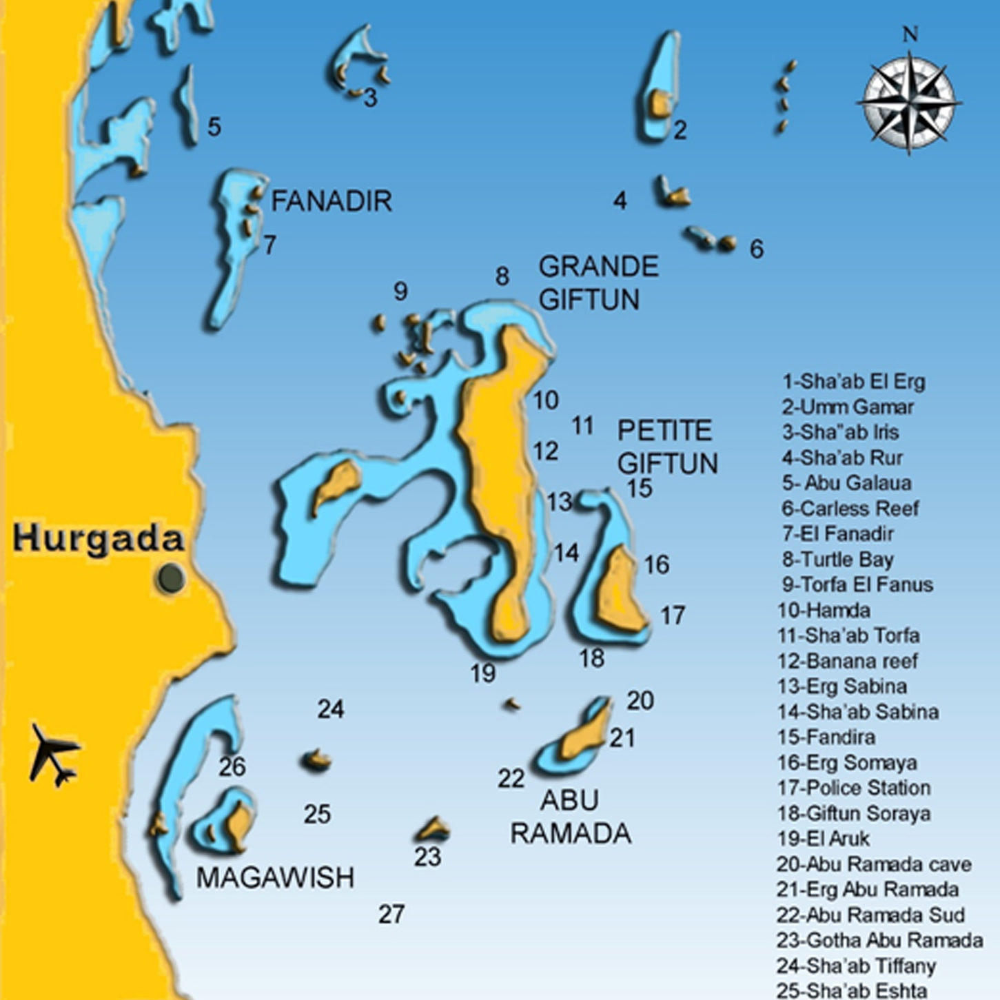 Hurghada-Dive-sites-map